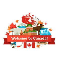 Canada background design vector