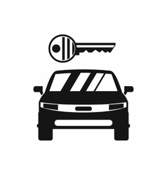 Car and key icon simple style vector