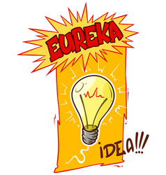 cartoon lightning idea bulb vector image