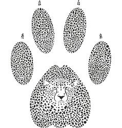 Cheetah footprint vector