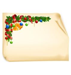 christmas angle garland vector image