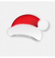christmas santa claus cap transparent background vector image