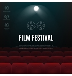 Cinema film festival abstract poster vector