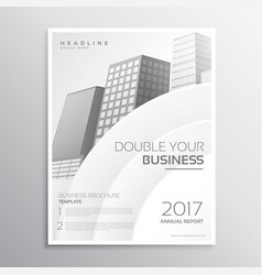 Clean white business brochure template design vector