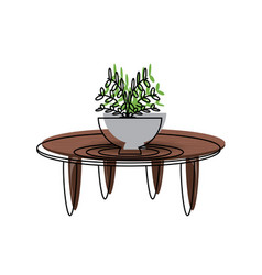 coffee table icon vector image