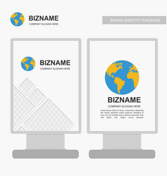 Company banners design with logo and blue theme vector