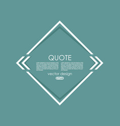 creative quotation mark speech bubble quote sign vector image