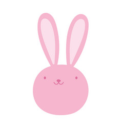 cute rabbit face adorable cartoon character icon vector image