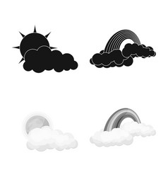 Design of weather and climate logo vector