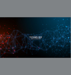 Digital technology and particles mesh banner vector