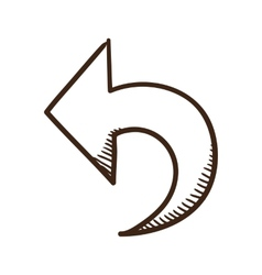 Direction arrow symbol vector image