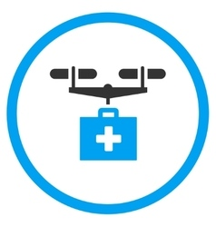 Drug Drone Delivery Rounded Icon vector image