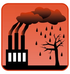 Factory generating toxic air pollution vector image
