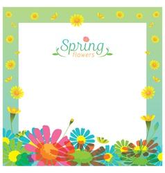 Flowers Spring Season Frame vector image