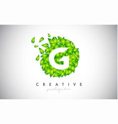 g green leaf logo design eco logo with multiple vector image