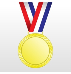 Gold medal winners at the tape vector image