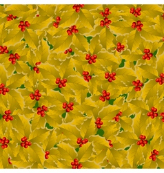 golden holly background vector image