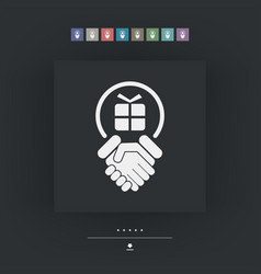 Handshake for gift vector