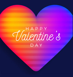 Happy valentine day greeting banner with vector