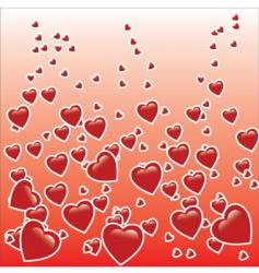 hearts graphic vector image