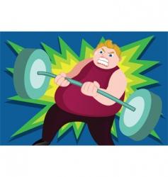 heavy weight vector image