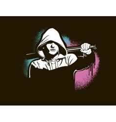Hooligan - isolated on white vector image