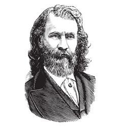 Joaquin miller vintage vector