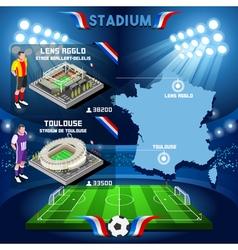 Lens Agglo Toulouse Soccer Stadium vector