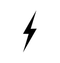 lightning icon simple flat symbol perfect black vector image