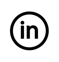 Linkedin big logo bright white material minimal vector