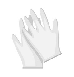 medical gloves icon in flat style vector image