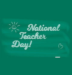 national holiday happy teacher day on school vector image