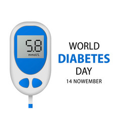 November diabetes day concept background vector