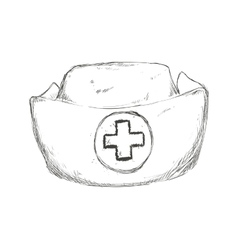 Nurse hat icon Medical care design vector
