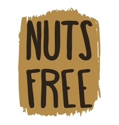 Nuts free hand drawn isolated label vector image
