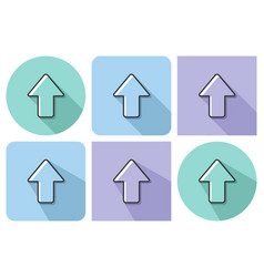 outlined icon upward direction arrow vector image