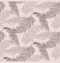 palm leaves seamless pattern design dusty vector image