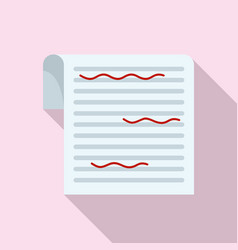 Paper proofread icon flat style vector