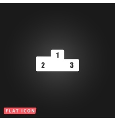 Pedestal flat icon vector