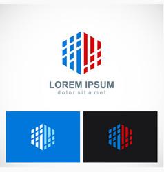 polygon digital technology business logo vector image