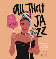 Poster flyer or invitation template for jazz vector