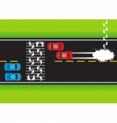 road situation vector image vector image