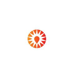 Round mark shine pin logo vector