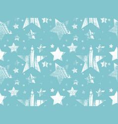 set of stars in grunge star vector image