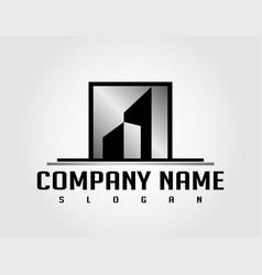 silver real estate logo vector image