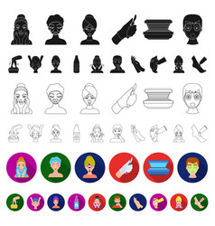 skin care flat icons in set collection for design vector image