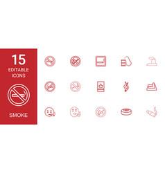 smoke icons vector image