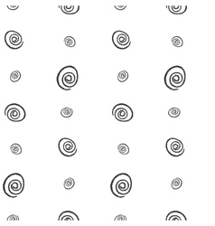 Spiral imitation ink on a white background vector image