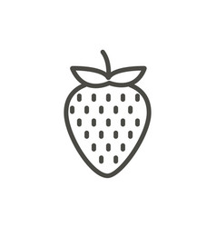 strawberry icon outline fruit line straw vector image
