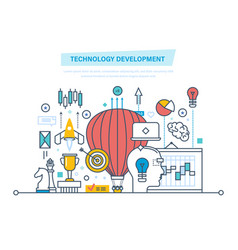 Technology development start-up creative vector
